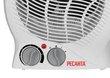 Три режима работы и термостат тепловентилятора электрического ТВС-2